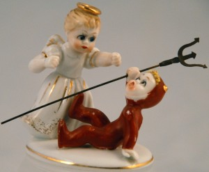 Lefton angel devil figurine collectibles