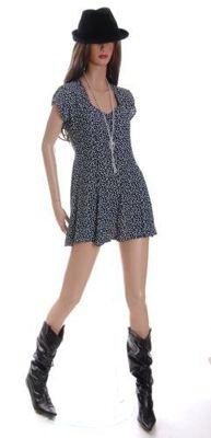 1980s vintage mini dress on vintage mannequin
