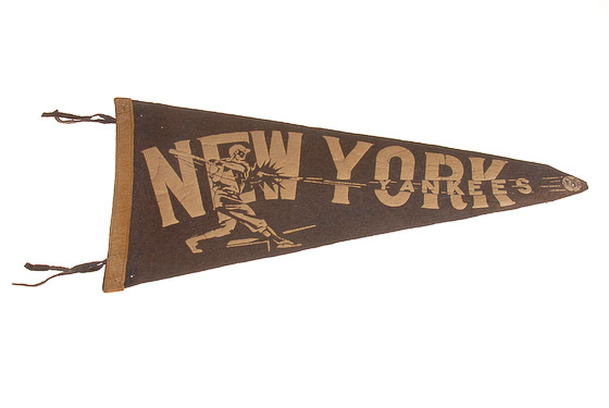vintage new york yankees pennant-1