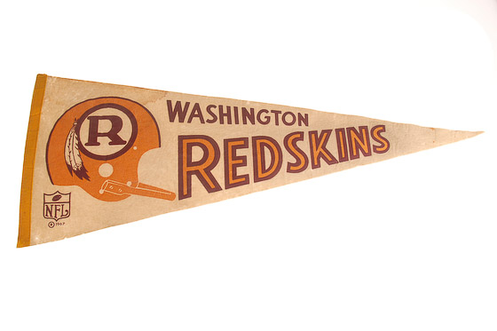 vintage washington redskins pennant-1