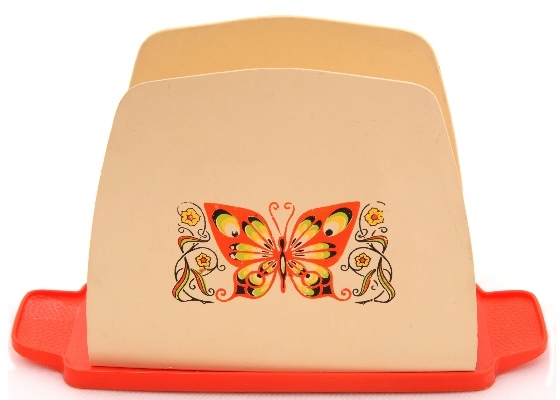 butterfly plastic vintage napkin holder