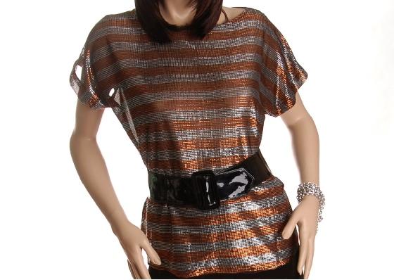 vintage metallic diso blouse