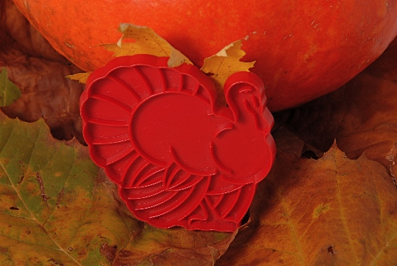 turkey cookie cutter front