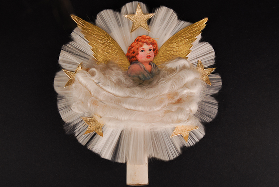 spun glass angel tree topper