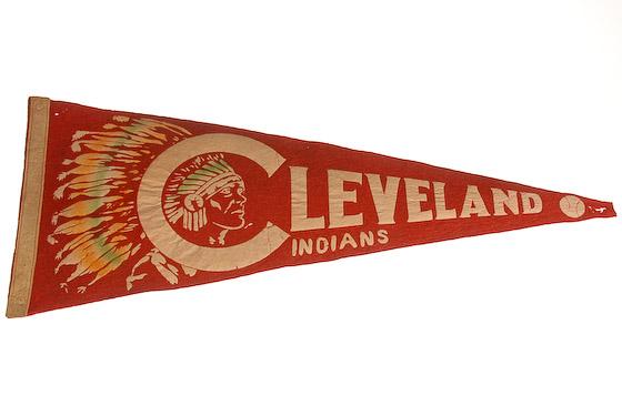 vintage cleveland indians pennant