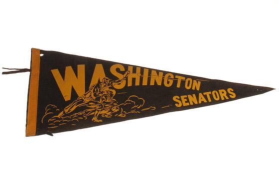 vintage washington senators pennant