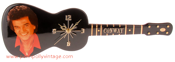 conway twitty guitar clock